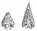 Pontas de dupla face do período mesolítico